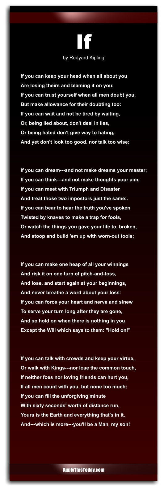 If by rudyard kipling the poetry foundation photos